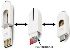 microSDカードリーダ3