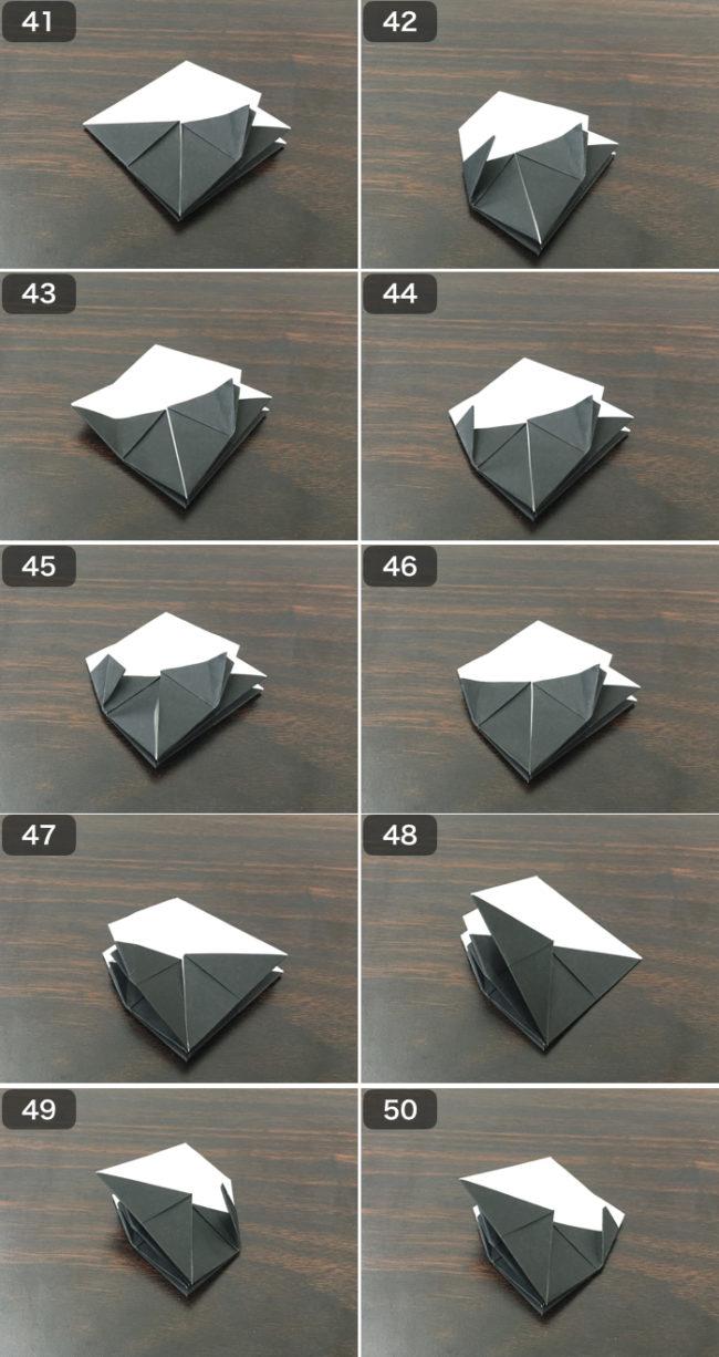 お多福の香箱の折り方5