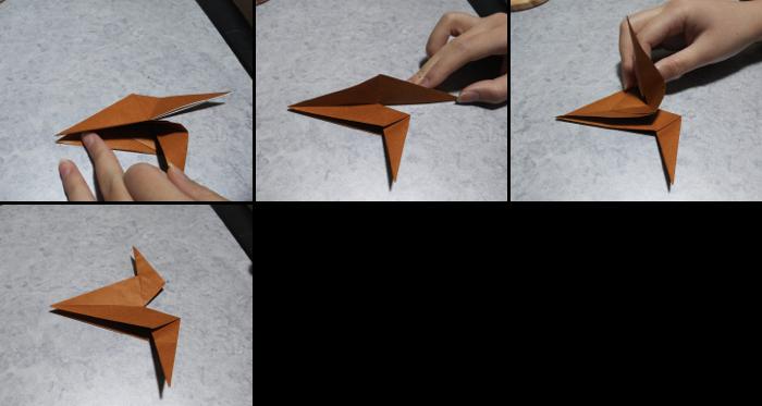 トナカイの折り方3