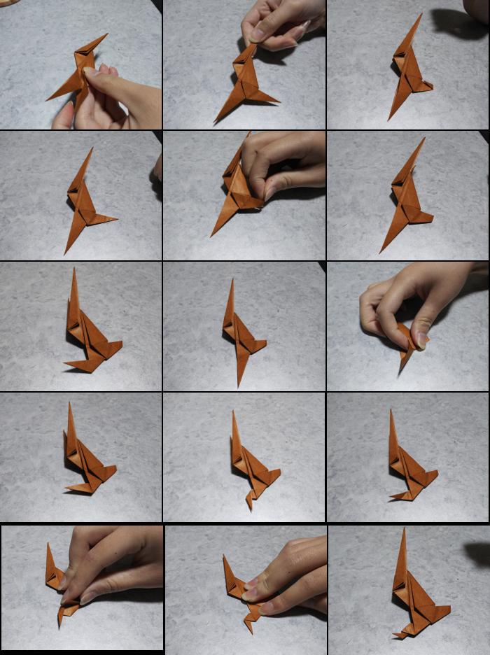 トナカイの折り方5