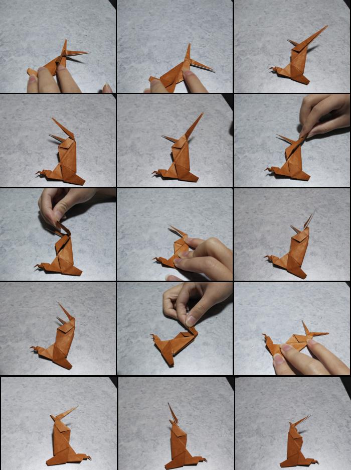 トナカイの折り方7
