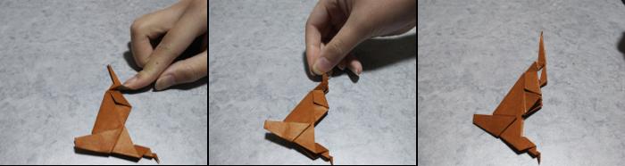 トナカイの折り方8