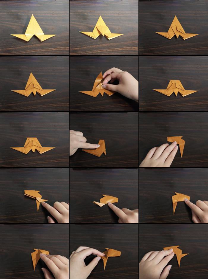 トナカイの折り方9