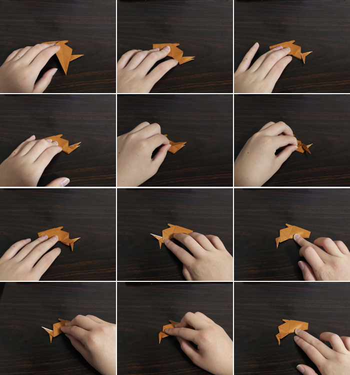 トナカイの折り方10