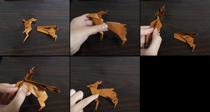 トナカイの折り方11