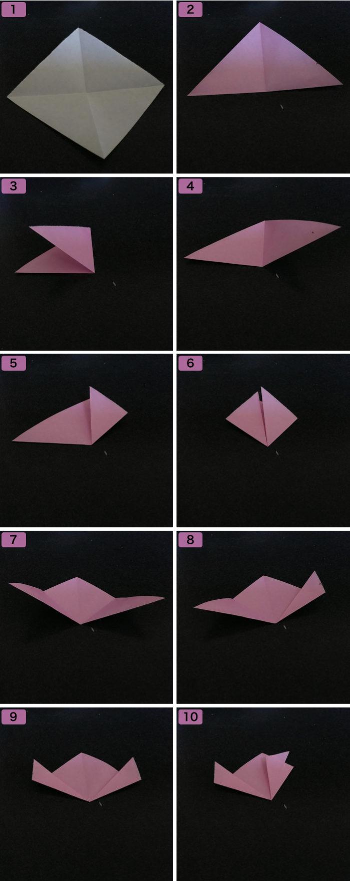 桜の折り方1