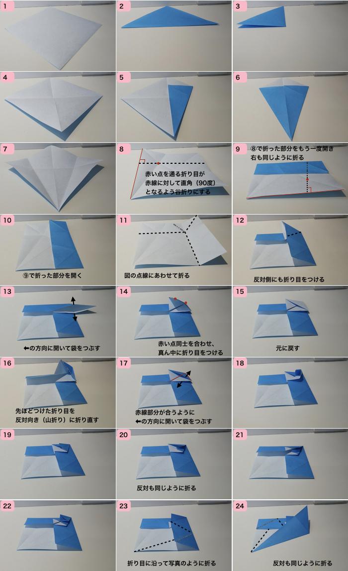 ネズミの折り方1