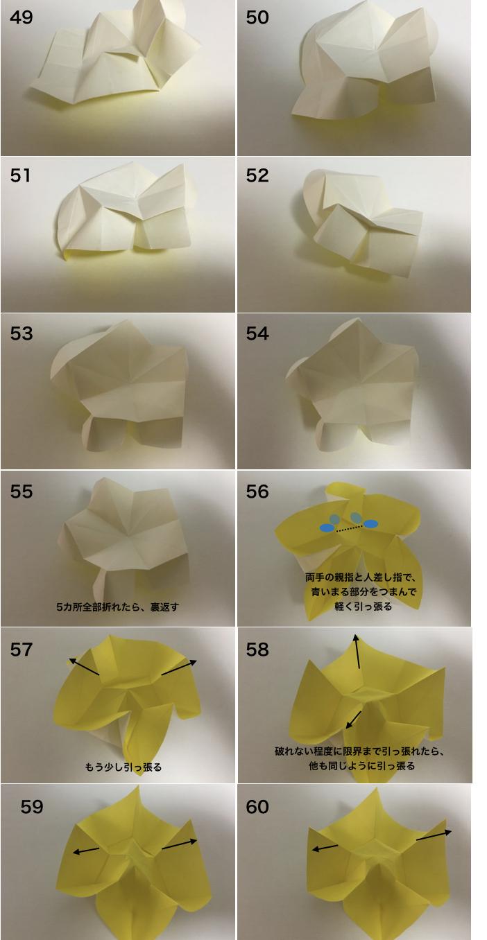 スターフルーツの折り方5